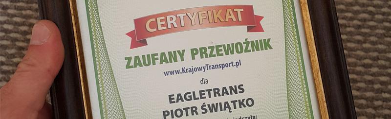 Nagrody i wyróżnienia EagleTrans Legnica 2014